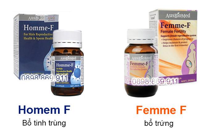 homme f và femme f