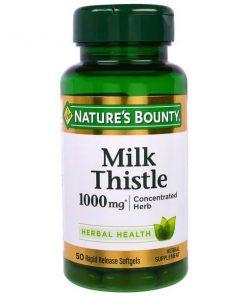 Viên uống giải độc gan Nature's Bounty Milk Thistle 1000mg 50 viên