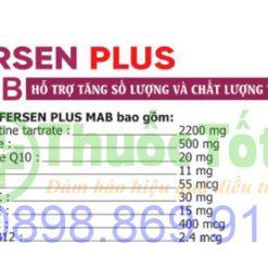 thành phần thuốc fersen plus