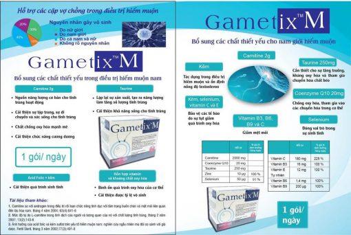vai trò các thành phần trong thuốc gametix m