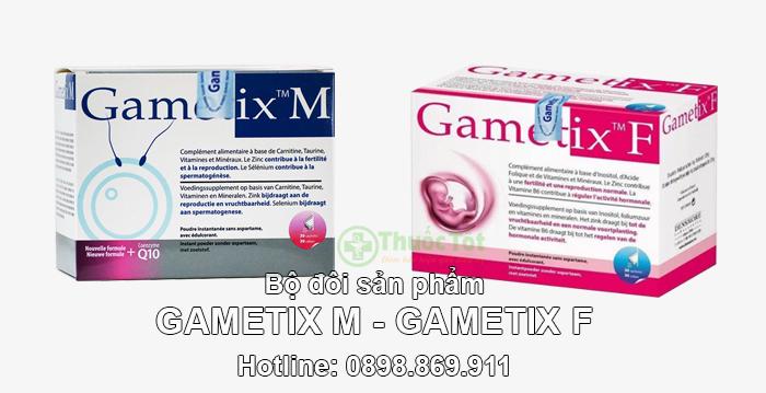 bộ đôi sản phẩm gametix m và gametix f