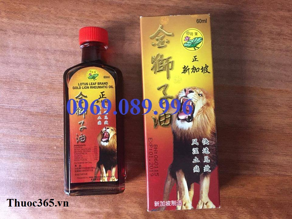 dầu sư tử singapore hiệu lá sen