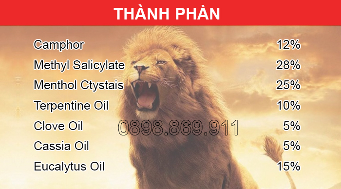 thành phần dầu sư tử singapore