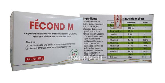 fecond m bổ tinh trùng