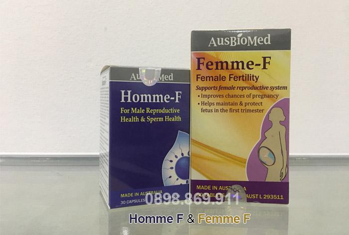 bộ đôi sản phẩm thuốc homme f và femme f
