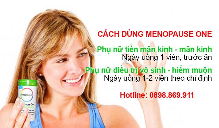 cách dùng thuốc menopause one hiệu quả