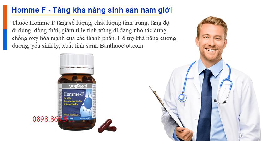 tác dụng thuốc homme f