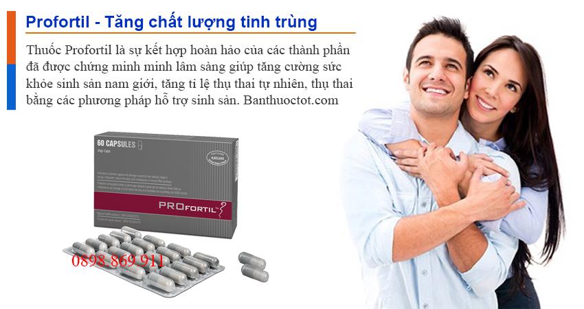 tác dụng của thuốc profortil