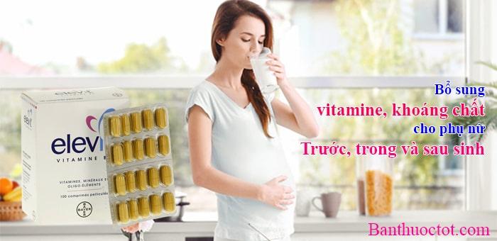 phụ nữ cần bổ sung vitamin và khoáng chất trước, trong và sau khi sinh