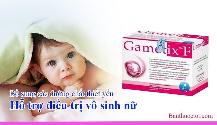 thuốc gametix f hỗ trợ điều trị vô sinh nữ