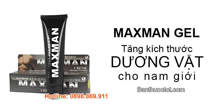 maxman gel tăng kích thước dương vật