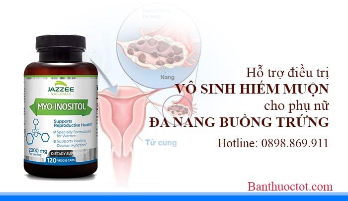 myo inositol điều trị vô sinh cho phụ nữ buồng trứng đa nang