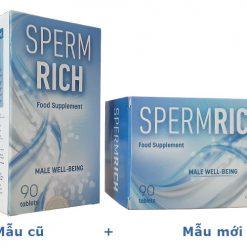 spermrich mẫu cũ và mẫu mới
