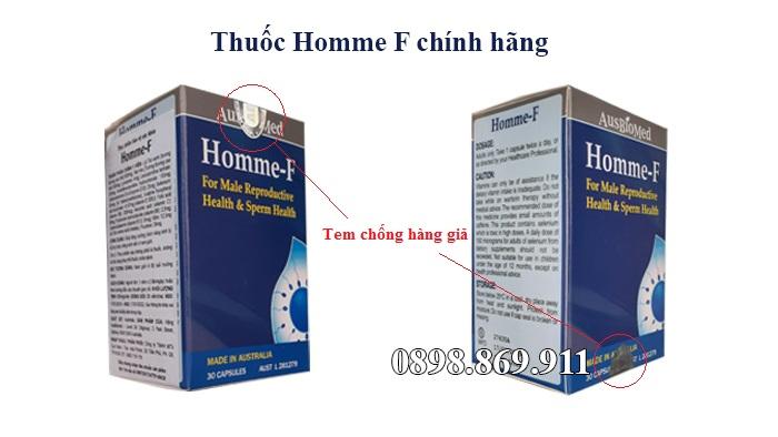 thuốc homme f chính hãng