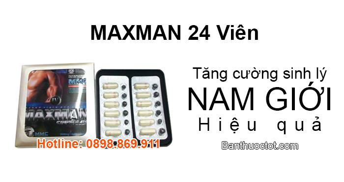 thuốc maxman 24 viên