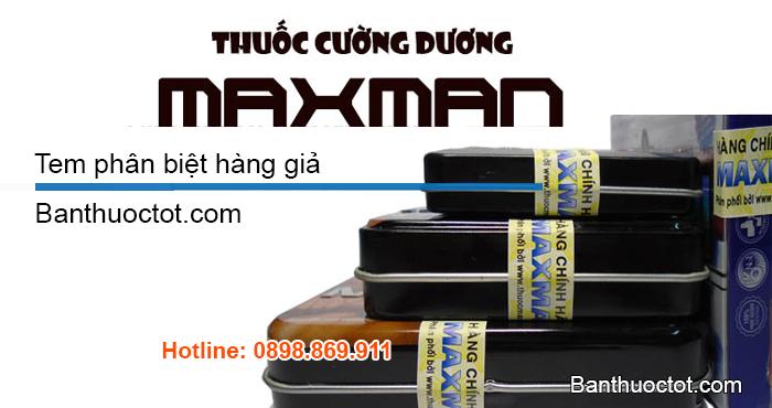 thuốc maxman chính hãng