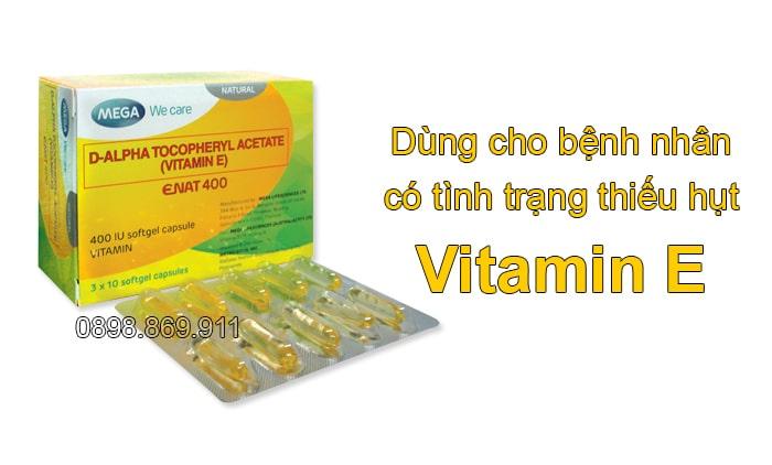 đối tượng sử dụng vitamin e enat 400 iu