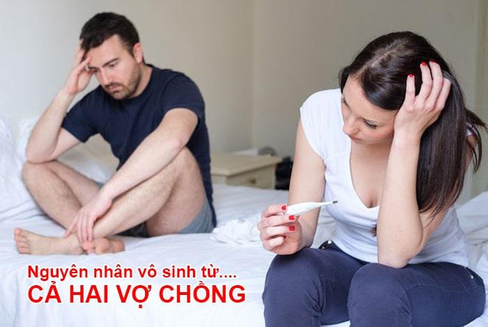 nguyên nhân gây vô sinh xuất phát từ cả vợ và chồng