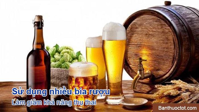 bia rượu ảnh hưởng đến khả năng thụ thai