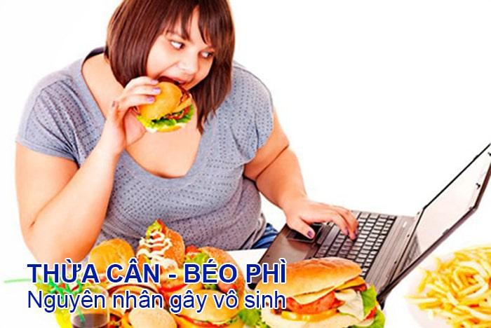 thừa cân, béo phì là nguyên nhân gây vô sinh