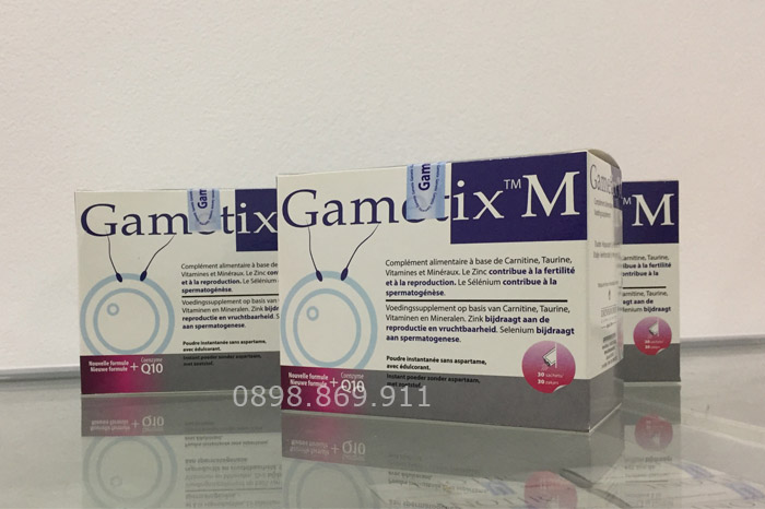 gametix m hỗ trợ tinh trạng vô sinh hiếm muộn ở nam giới
