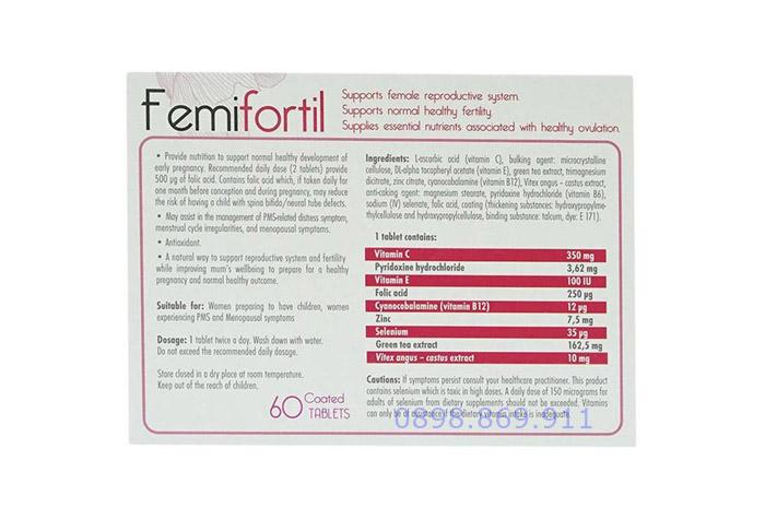 thành phần và hàm lượng thuốc femifortil