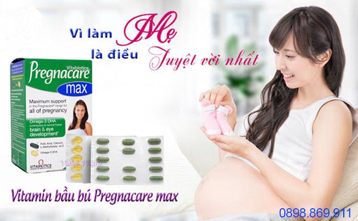 pregnacare max cho bà bầu