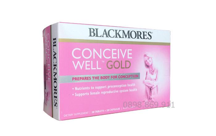 thuốc blackmores conceive well gold chính hãng