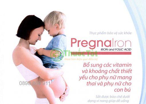 thuốc pregnairon bổ sung vitamin và khoáng chất cho phụ nữ mang thai và cho con bú