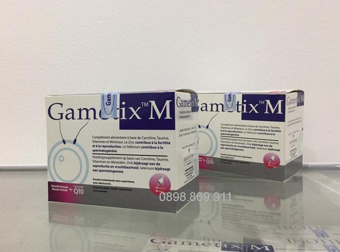 thuốc gametix m mạnh tinh trùng