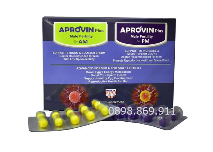thuốc aprovin plus cho nam giới hiếm muộn