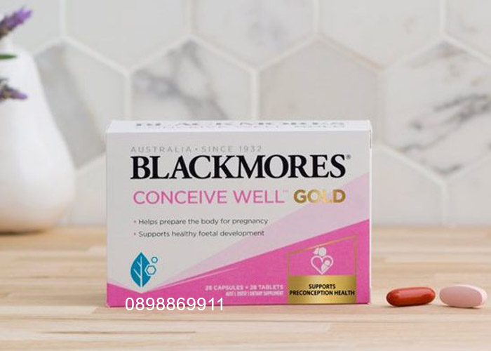 thuốc blackmores conceive well gold mẫu mới