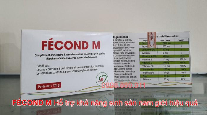 fecond m tăng khả năng sinh sản nam giới