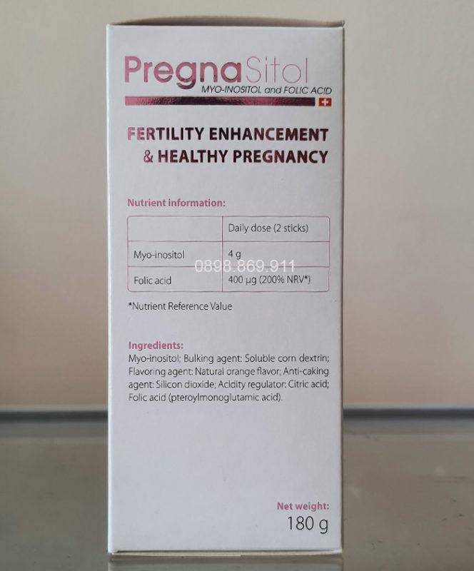thành phần thuốc pregnasitol