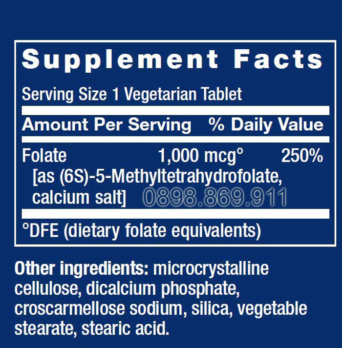 thành phần thuốc optimized folate