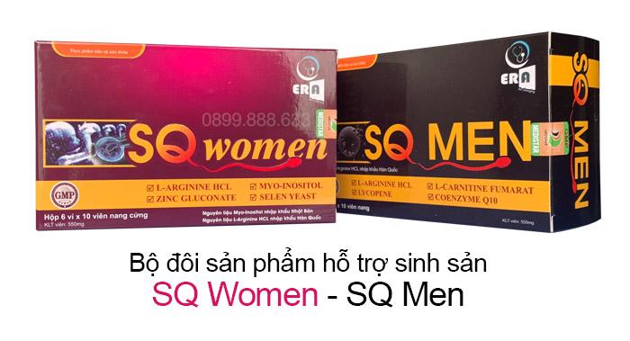bộ đối sản phẩm sq women và sq men
